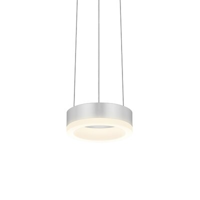 Corona 1-Light Pendant Finish: Bright Satin Aluminum