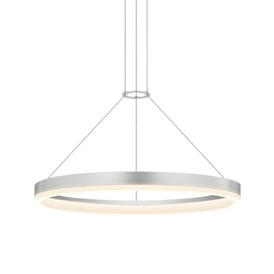 Corona 1-Light Pendant Finish: Bright Satin Aluminum, Size: 24 W