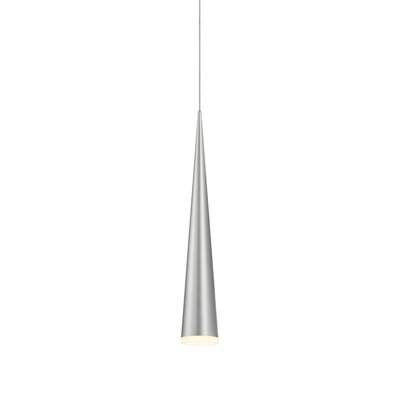 Micro Cone 1-Light Mini Pendant Finish: Bright Satin Aluminum