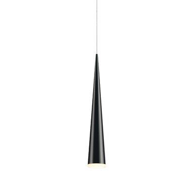 Micro Cone 1-Light Mini Pendant Finish: Satin Black