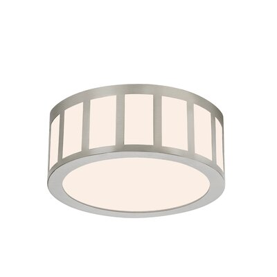 Capital Flush Mount Size: 5.5 H x 9 W x 9 D, Finish: Satin Nickel