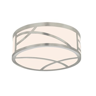Haiku Flush Mount Size: 5 H x 12 W x 12 D, Finish: Satin Nickel