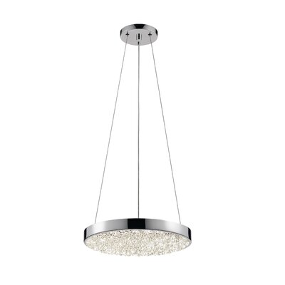 Dazzle 1-Light Drum Pendant Size: 1.75 H x 12 W
