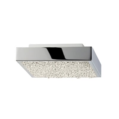Dazzle 1-Light Flush Mount Size: 1.75 H x 6 W x 6 D