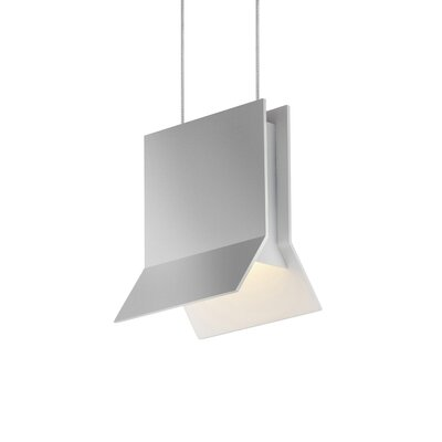 Lambda 1-Light Pendant Finish: Bright Satin Aluminum