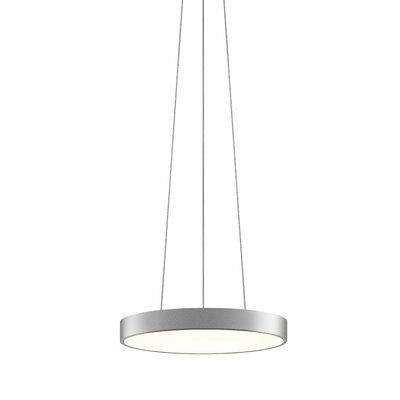 Pi 1-Light Drum Pendant Finish: Bright Satin Aluminum, Size: 2 H x 16 W
