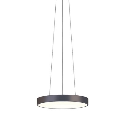 Pi 1-Light Drum Pendant Finish: Black Bronze, Size: 2 H x 16 W