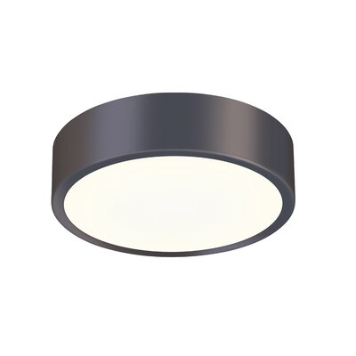 Pi 1-Light Flush Mount Finish: Black Bronze, Size: 2 H x 12 W