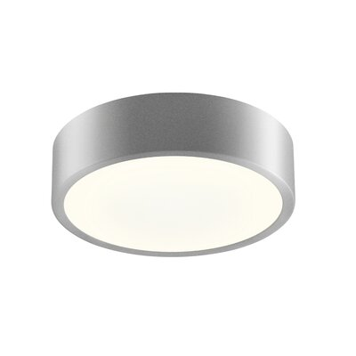 Pi 1-Light Flush Mount Finish: Black Bronze, Size: 2 H x 8 W
