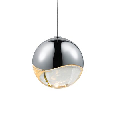 Grapes? 1-Light Globe Pendant Finish: Polished Chrome, Size: Large