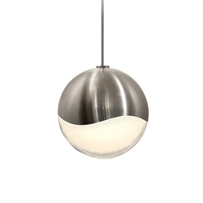 Grapes? 1-Light Globe Pendant Finish: Satin Nickel, Size: Large