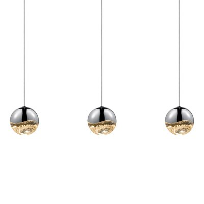 Grapes? 3-Light Kitchen Island Pendant Finish: Polished Chrome, Size: Large