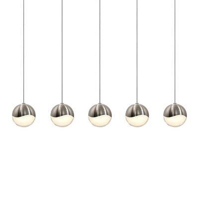 Grapes? 5-Light Kitchen Island Pendant Finish: Satin Nickel, Size: Small