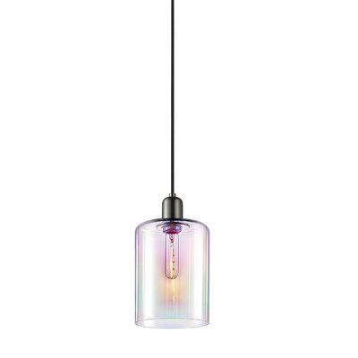 Cloche 1-Light Mini Pendant Finish: Retro Nickel, Shade Color: Light Dichroic, Size: 14.75 H x 7 W