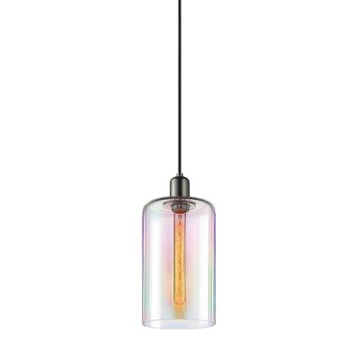 Cloche 1-Light Mini Pendant Finish: Retro Brass, Shade Color: Light Dichroic, Size: 12 H x 7 W