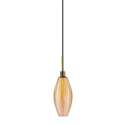 Lillia 1-Light Mini Pendant Finish: Retro Brass, Shade Color: Smoke Bronze