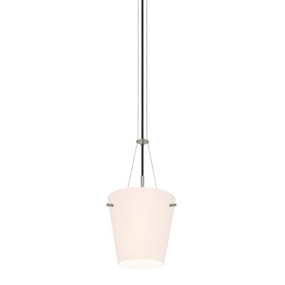 Vogue 1-Light Pendant Finish: Satin Nickel, Size: Small