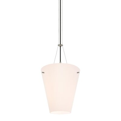Vogue 1-Light Pendant Size: Large, Finish: Satin Nickel