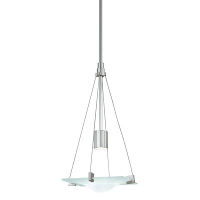 Handkerchief 1-Light Square Pendant Finish: Satin Silver