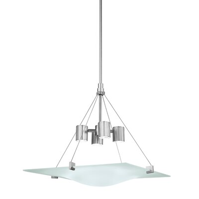 Handkerchief 4-Light Square Foyer Pendant Finish: Satin Silver
