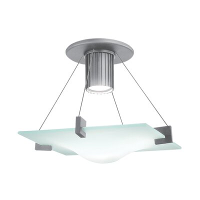 Handkerchief 1-Light Semi Flush Mount Finish: Satin Silver