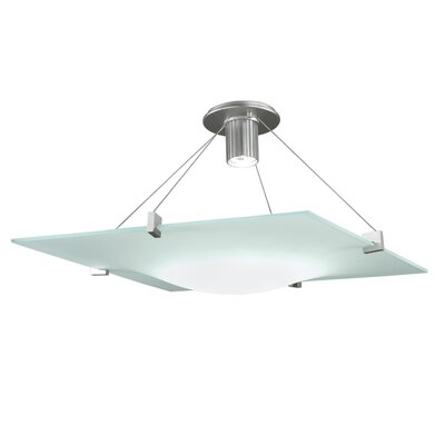 Handkerchief 1-Light Large Semi Flush Mount Finish: Satin Silver