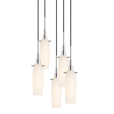 Candela 5-Light Tulip Pendant Finish: Polished Chrome