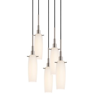 Candela 5-Light Tulip Pendant Finish: Satin Nickel