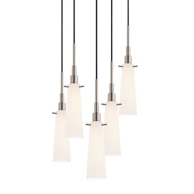 Candela 5-Light Torpedo Pendant Finish: Satin Nickel