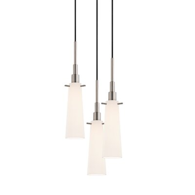 Candela 3-Light Torpedo Pendant Finish: Satin Nickel