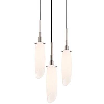 Candela 3-Light Tulip Pendant Finish: Satin Nickel