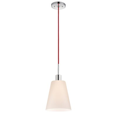 Glass Pendants 1-Light Pendant Cord Color: Red