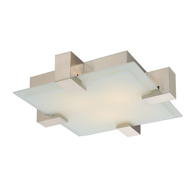 Dakota Semi-Flush Mount Finish: Satin Nickel, Bulb Type: Incandescent