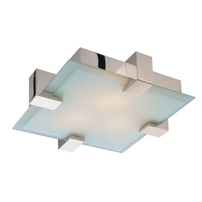 Dakota Semi-Flush Mount Finish: Polished Chrome, Bulb Type: Incandescent