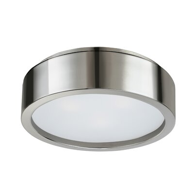 Puck Flush Mount Finish: Polished Nickel, Size: 4.5 H X 15 Dia