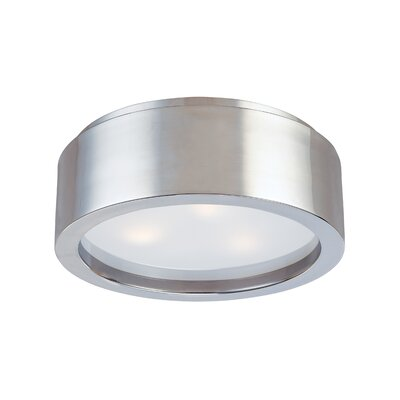 Puck Flush Mount Finish: Satin Nickel, Size: 4.5 H X 12 Dia