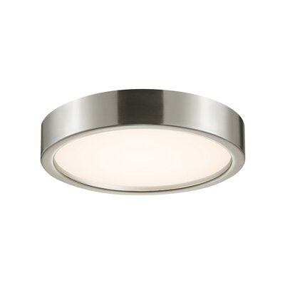 Puck Slim Flush Mount Finish: Satin Nickel
