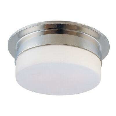 Flange Flush Mount Finish: Polished Nickel, Size: 5 H X 9 Dia