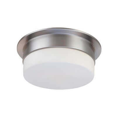 Flange Flush Mount Finish: Satin Nickel, Size: 5 H X 12 Dia