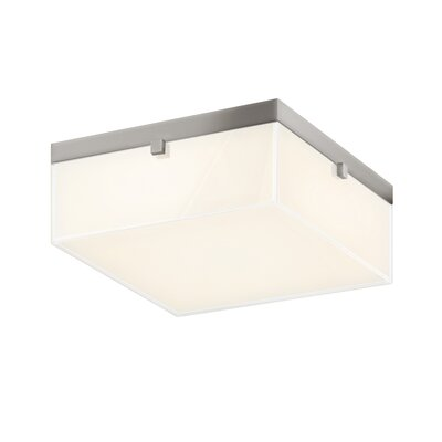 Parallel Flush Mount Fixture Finish: Satin Nickel