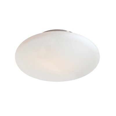 Wedge Flush Mount Size / Finish: 4.5 H x 14 W / Satin Nickel