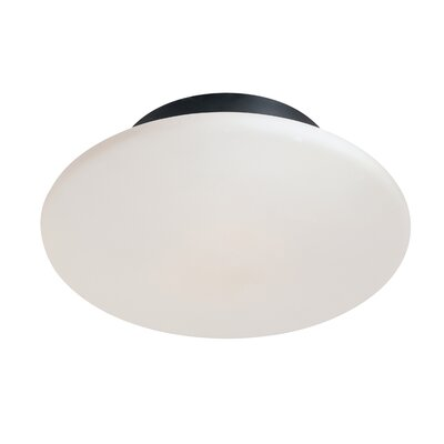 Saturn 2-Light Semi Flush Mount Finish: Satin Black