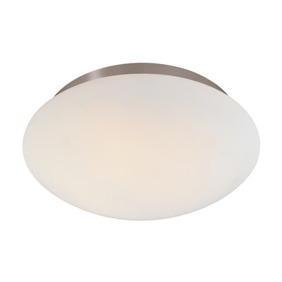 Mushroom Semi Flush Mount Finish: Satin Nickel, Size: 5 H x 15.5 W