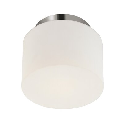 1-Light Drum Semi Flush Mount Finish: Polished Nickel