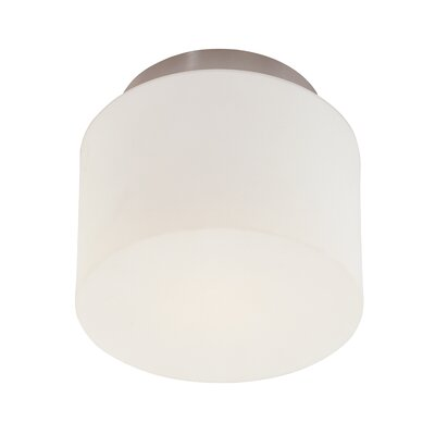 1-Light Drum Semi Flush Mount Finish: Satin Nickel