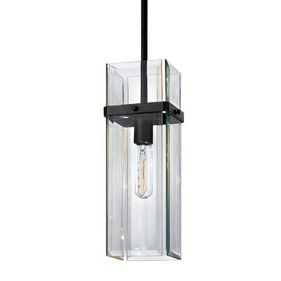 Mercer 1-Light Street Pendant Finish: Satin Black