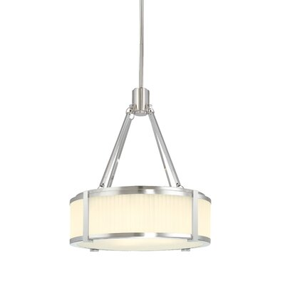 Roxy 4-Light Drum Pendant Finish: Satin Nickel, Size: Small