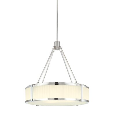 Roxy 4-Light Drum Pendant Size: Small, Finish: Polished Nickel