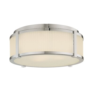 Roxy Flush Mount Finish / Size: Polished Nickel / 6.5 H x 16.5 Dia