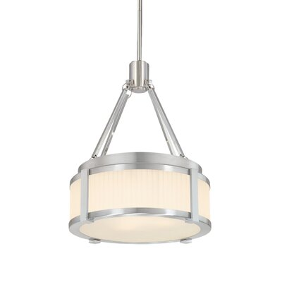 Roxy 2-Light Drum Pendant Finish: Satin Nickel